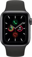 Apple Watch Series 5 44mm/Space Grey Aluminium Case With Black Sport Band, MWVF2 GPS