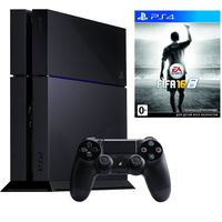 Game Console  Sony PlayStation 4 1TB Black + 3 Games, 1 x Gamepad (Dualshock 4), 3 x Game (Uncharted 4 (RU) + DRIVECLUB (RU) + Ratchet & Clank (RU))