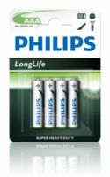 Батарейка Philips LONGLIFE AAA B4 (4шт.), R03 LONGLIFE B4