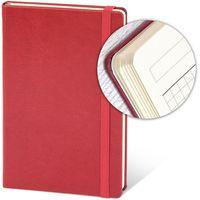 Ежедневник недатир. 13x21 см, 96 л, резинка, красный