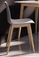 купить Plastic chair, wooden legs 505x450x800 mm, black в Кишинёве