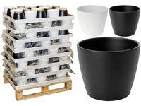 купить Горшок для цветов керамический H15cm черно-бел в Кишинёве