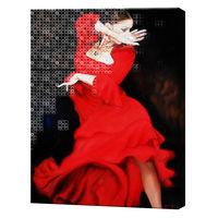 Страсть в танце, 40x50 см, комбо-набор картина по номерам + алмазная мозаика, YHDGJ74176