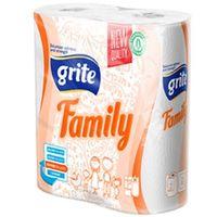 Полотенце бумажное GRITE Family 2-слойная, 14м, 2 рулона