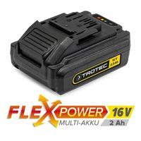Дополнительный аккумулятор Flexpower 16 В 2,0 Ач - можно использовать с различными инструментами Trotec