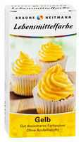 BRAUNS-HEITMANN Пищевой краситель желтый, 2 x 4г
