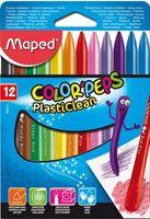 MAPED Карандаши пластиковые MAPED PlastiClean, 12 цветов