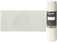 Коврик для ванны 36X76cm Quadro Premium белый, резиновый