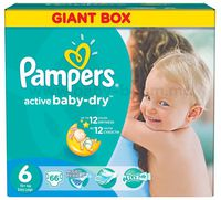Pampers 3305 Active Baby Extra Large 6 (15+ кг.) 66 шт.