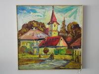 Раславице (Словакия), 50x50 см., холст, масло