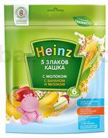 Heinz Кашка 5 злаков с молоком, бананом и яблоком (6m+)