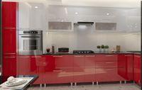 Bucătărie Bafimob Corner (High Gloss) 4.1x0.9m Eco +ball closer White/Red