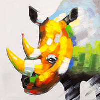 Oil Paintings Rhinoceros (ANI16001033)