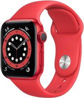 Apple Watch Series 6 44mm Red Aluminum Case with Red Sport Band, M00M3