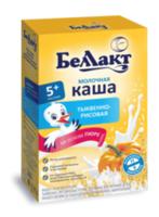 Беллакт каша тыквенно-рисовая молочная, 5+мес.