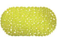 """Коврик для ванны 35X68cm """"Галька"""" овал, зелeный, PVC"""