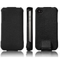 SGP Leather Case Argos Black for iPhone 4/4S