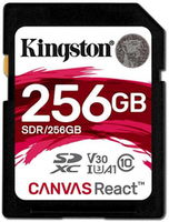 Сard de memorie Kingston SDXC 256Gb Class 10 UHS-I U3 Kingston Canvas React (SDR/256GB)