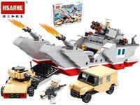 Конструктор HSANHE Эсминец,машина,танк 42.5X31X6.5cm, 486дет