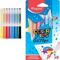 MAPED Фломастер MAPED Glitter, 8 цветов