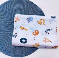 Муслиновая пеленка Pampy 100*80 см Весёлые Цифры