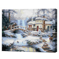 Peisaj forestier, 40x50 cm, pictură pe numere Articol: GX9900