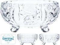 cumpără Bomboniera din cristal pe 3 picioruse D24cm, H12cm în Chișinău