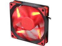 "120mm Case Fan - DEEPCOOL Gamer Storm TF series ""TF120"" Fan with Red LED, 120x120x26mm, 500-1800rpm, <17.6~31.3dBa, 76.5CFM, Fluid Dynamic Bearing, 4Pin, PWM, 2-Layer Blade Design, DIY Solution, MTBF >100000 hours"