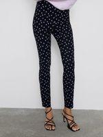 Pantaloni ZARA Floral negru 1608/229/800
