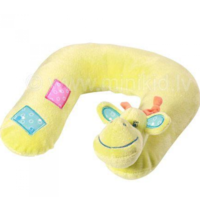 BabyOno Подушка велюровая Жираф под шею, 12 месяцев+