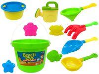 Набор игрушек и сито для песка в ведерке 11ед, 15.5X16cm