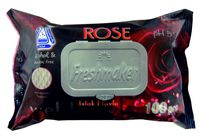 Салфетки влажные Freshmaker Rose 100шт  с крышкой