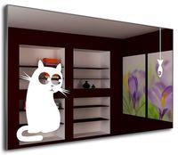 J-Mirror Cat&Fish 60x50 Aluminium Frame