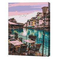 O seară în Antalya, 40х50 cm, pictură pe numere  BS32321