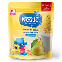 Каша овсяная-груша с молоком Nestle, с 8 месяцев, 220г