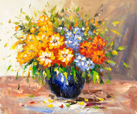 Oil Paintings Spring Flowers (FLW15000978)