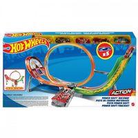 Mattel Hot Wheels Power Трек Безумный форсаж с 5 машинками