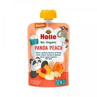 Пюре Panda Peach с абрикосом, бананом и пшеницей с 8 месяцев Holle Bio Organic, 100 г