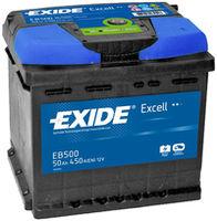 **АКБ Exide  EXCELL 12V  50Ah  450EN  207x175x190 -/+, EB500