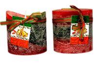 купить Свеча красно-зеленая с колокольчиком D7.5cm в Кишинёве