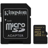 Kingston microSDHC 16Gb Class 10 UHS-I (SDCA10/16GB)