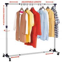 Tatkraft NEW YORK Стойка для одежды раздвижная в ширину и высоту 16095