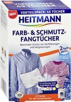 HEITMANN Салфетки для предотвращения случайной окраски тканей при машинной стирке, 45 шт.