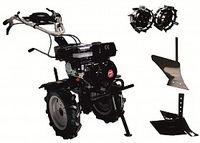 Набор мотоблок TECHNOWORKER HB 704.3.1.1 RS ECO + плуг простой + плуг регулируемый + металлические колеса 4*8