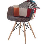 купить Пластиковый стул с обивкой, деревянные ножки 670x650x680 мм в Кишинёве