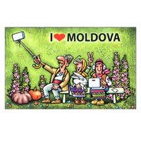 cumpără Магнит на холодильник - I love Moldova în Chișinău