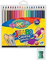 Цветные карандаши с точилкой COLORINO KIDS Jumbo, 18 цветов