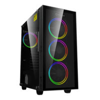 Case ATX GAMEMAX Draco XD, w/o PSU, 4x120mm ARGB fans. ARGB HUB, TG, Dust Filter, USB 3.1, Black