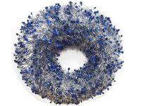 купить Венок новогодний D44cm, со звездочками, серебр-синий в Кишинёве