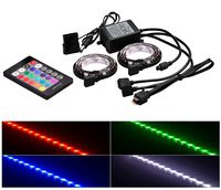 """RGD LED strips  DEEPCOOL """"RGB 350"""", Remote controller, RGB color LED strips: 500mm* 2pcs (with 200mm cable),  Different lighting modes, Magnet-based mounting, Stable and long lifespan, Software control (ASUS Aura/MSI Mystic/Gigabyte Fusion)"""